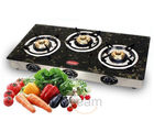 Padmini 3 Burner Gas Stove-CS-3GT (Black)