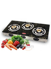 3 Burner Gas Stove-CS-3GT (Black)