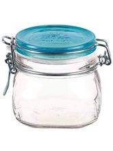 Wonderchef Bormioli Fido Vaso Jar With Lid - Blue 500ml, Blue