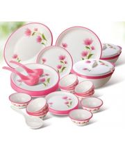 Nayasa Round Dinner Set Printed 32 Pcs, multicolor