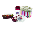 Lock and Lock Lunch Set With Pink Bag HPL754RP, pink