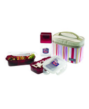 Lock and Lock Lunch Set With Pink Bag HPL754RP,...