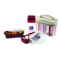 Lock and Lock Lunch Set With Pink Bag HPL754RP