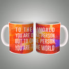 You Are The World Mug, multicolor