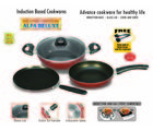 Padmini Essentia Cookplus Induction and Gas stove Cookware Set (Red)