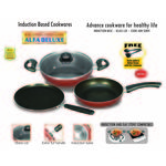 Padmini Alfa Induction and Gas stove Cookware Set, multicolor
