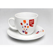 Cafe Coffee Day   Cappuccino Cup and Saucer (Pack of 2)