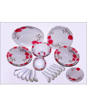 Oromax Melamine Dinner Set Of 44 Pcs LE-ORM-001, Multicolor