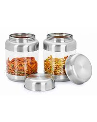 Sizzle Transparent Containers 575 ml Set of 2, multicolor