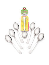 Roops Dessert Spoon Sober Stainless Steel Silver 6...