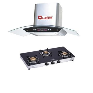 G350A 3 Burner Gas Cooktop (With Electric Chimney 1115)