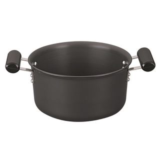 Jaypee Hard Anodised Cook'n'Serve 4ltr/3.25mm With S. S Lid, Black