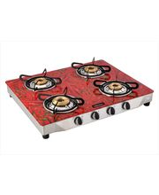 Surya Flame Glaze Chilly 4 Burner Glass Top Gas...