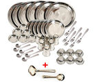 Kitchen Pro 42 Pcs Stainless Steel Dinner Set (Multicolor)