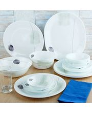 Corelle Gold Series Smooth Dinner Set Of 21 Pcs, Multicolor