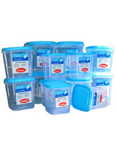 Chetan Set Of 14 Pc Plastic Kitchen Storage Containers, blue