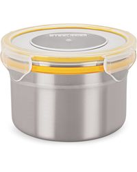 Steel Lock Airtight Storage Containers 600 ml 2 Pc 1303 Container Set, multicolor