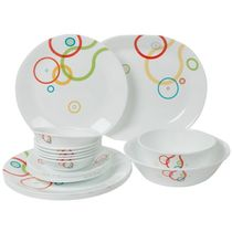 Corelle India Collection Hula Hoop Dinner Set Of 21 Pcs