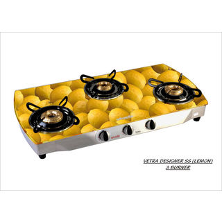 Premium Vetra SS Lemon Gas Cooktop (3 Burner)