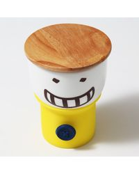 Its Our Studio Button Smiley Mug Yellow,  yellow