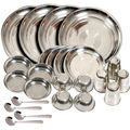Kitchen Pro 24 Pcs Stainless Steel Dinner Set (Multicolor)