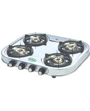 EELLEE 4 Burner Stainless Steel Gas Stove ELE-4122, Multicolor