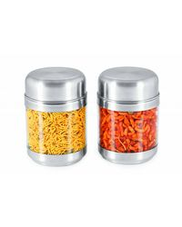 Sizzle Clear Containers 575 ml Set of 2, multicolor