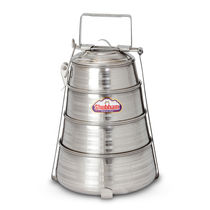 Shubham Steel Lunch Box / Tiffin Pyramid 4 Containers Set