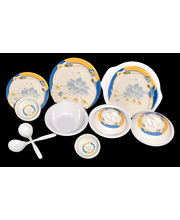 My Kitchen 32 Pcs Melamine Dinner Set LE-MYK-001, multicolor