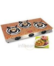 3 Burner Gas Stove-CS-3GTA (Brown)