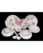 Choice 32 Pcs Melamine Dinner Set LE-CH-007, multicolor