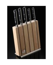 Wonderchef Sabateir Trompette 5 Pc Knife Block Set, Multicolor