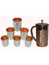 Tera India Jug With 6 Glasses Combo Set - RI_ Prod_ 0040, Multicolor