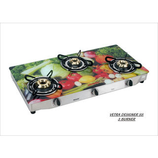 Premium Veg AI 3 Burner Gas Cooktop