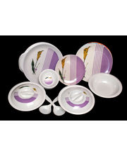 Choice 32 Pcs Melamine Dinner Set LE-CH-010, multicolor