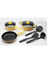 Polo Lifetime 8 Pcs Induction Cookware Set, yellow