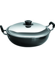 Metallino Nonstick Deep Kadai 2.5L, Black