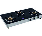 Surya Flame Italiano Designer 3 Burner Gas Cooktop, black