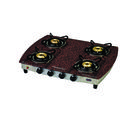 Signoracare 4 burner L. P. G. Glass Top Gas Stove, multicolor
