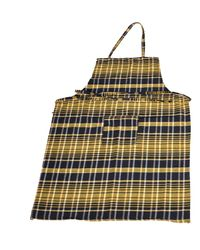 Valtellina Checked Apron (APNS-011),  yellow