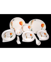 Lifestyle 40 Pcs Melamine Dinner Set LE-PG-007, multicolor
