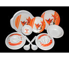 Choice 32 Pcs Melamine Dinner Set LE-CH-011, multicolor