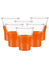 Wonderchef Bormioli Ypsilon Shot Glass- Orange 6pc Set 110ml, Orange