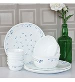 Corelle Essential Series Provincial Blue Dinner Set Of 14 Pcs, multicolor