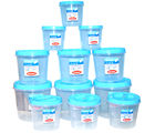 Chetan Set Of 12 Pc Twist Lock Kitchen Storage Container, blue
