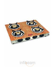 4 Burner Gas Stove-CS-4GTA (Brown)