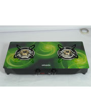 Advanta Premium Vetra Galaxy 2 Burner Glass Top Gas Stove With Automatic Ignition, Multicolor