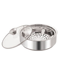 NanoNine Insulated Chapati Casserole, 1150 ml,  silver
