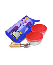 Polly with Spoon - Fork Lunch Box, multicolor