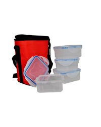 Eagle Home Water Tighty Lunch Bag Vrbp-400Ml* 4, multicolor